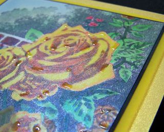 Kinkade yellow rose close up 1
