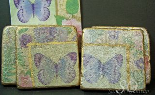 Butterfly napkin coasters