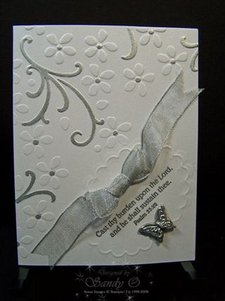 Double embossed white and silver