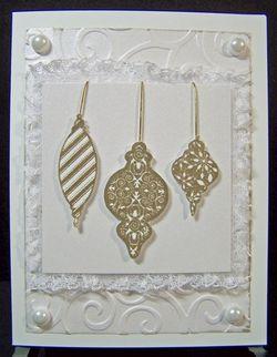 3 ornament Christmas card