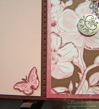 Cherish bookmark card close up inside