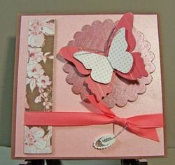 Chipboard butterfly card