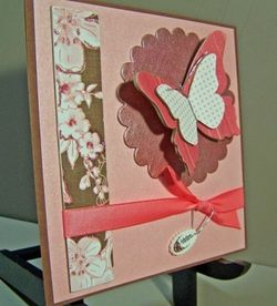 Chipboard butterfly card side