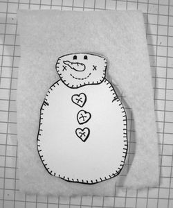Quilt snowman cutting out