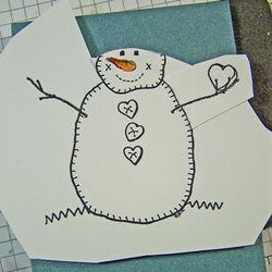 Quilt snowman arm template