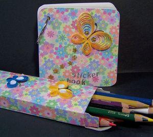 Sticker set pencils open