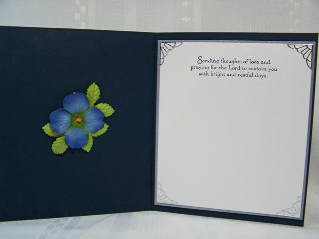 Spiral panel lilacs inside