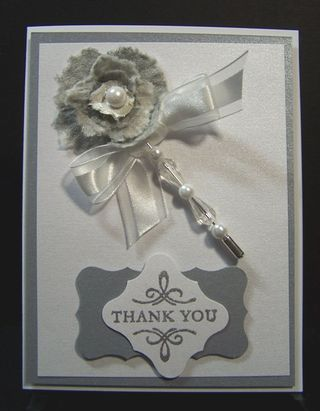 Paper towel flower card