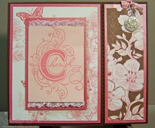 Cherish bookmark card