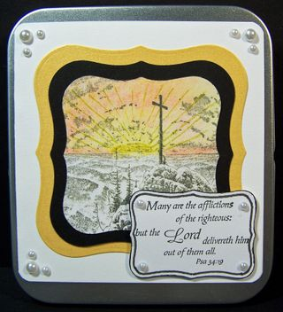 Thomas Kinkade prayer card tin