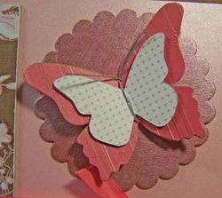 Chipboard butterfly card closeup