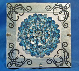 Blue medallion frame edited