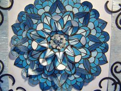 Blue medallion close up edited
