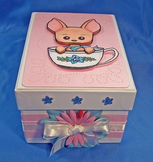 Dog tea box front tilted