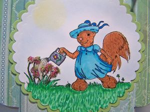 Squirrel garden book CU