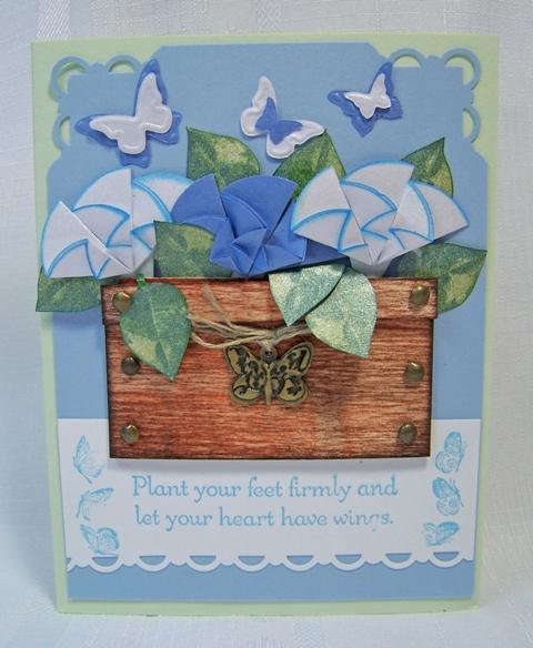 MCC origami flower pot
