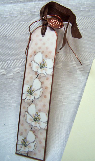 Apple blossom bookmark