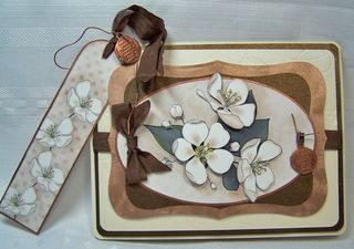Apple blossom with bookmark
