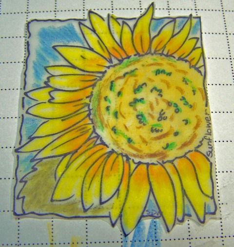 Sunflower window ornament step 2
