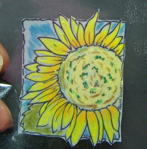 Sunflower window ornament step 4a
