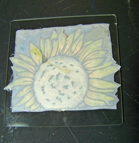 Sunflower window ornament step 6