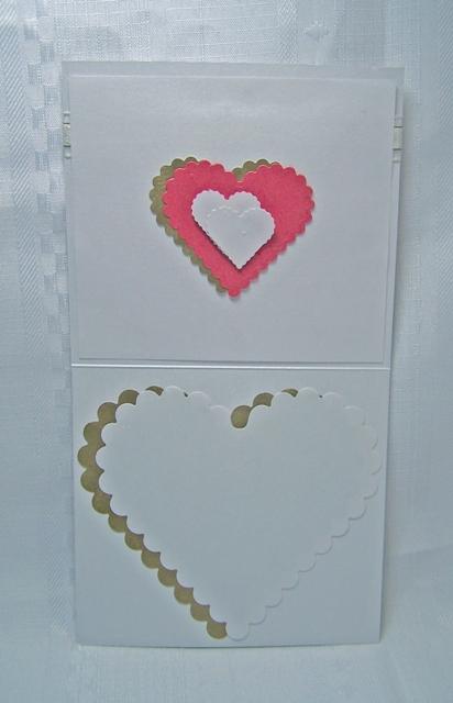 Gold ivory heart inside white