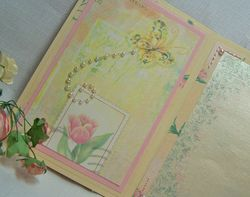 Fancy fold stitched card inside front