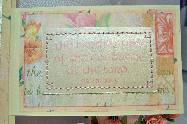 Fancy fold stitched card sentiment