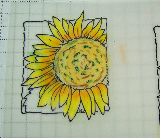 Sunflower window ornament step 1