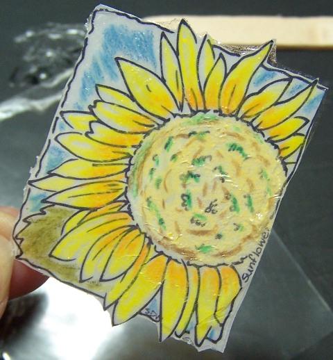 Sunflower window ornament step 4b