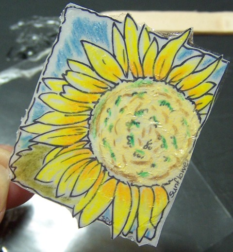 Sunflower window ornament step 4b