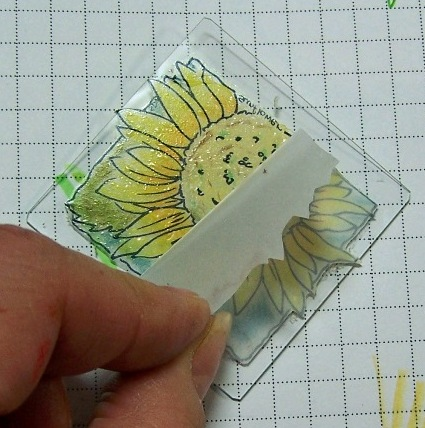 Sunflower window ornament step 5