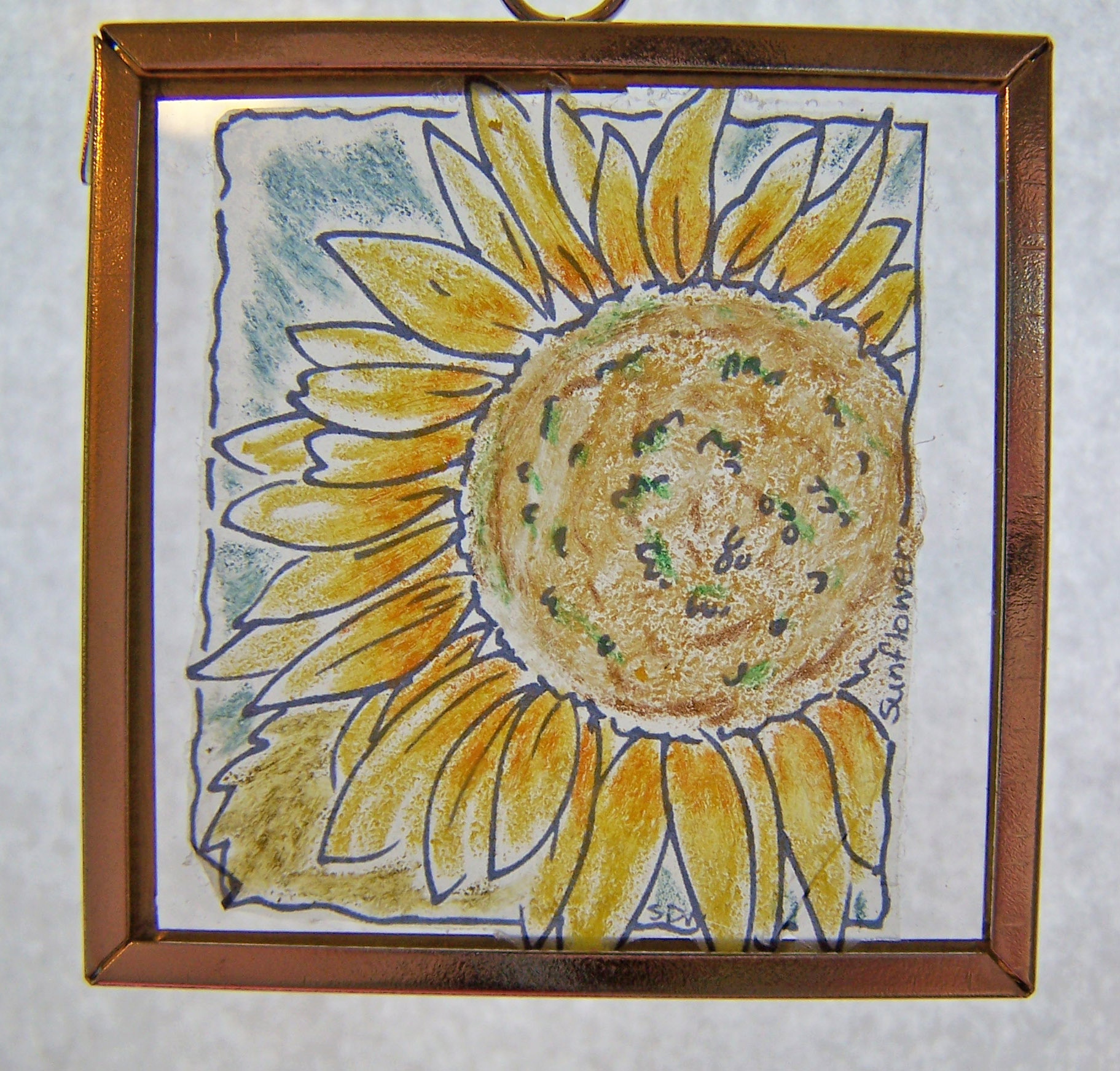 Sunflower window ornament